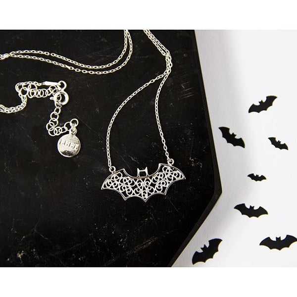 FANCY BAT CHARM - STERLING SILVER - Necklace - LUFT Gümüş Telkari Silver Filigree Jewelry