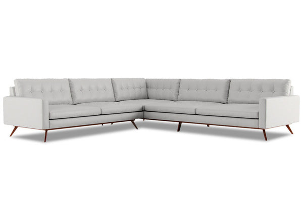 Single Line tufted 3 Piece L Shape Sectional with no piping