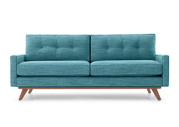 Single Line Tufted Back Loveseat with Piping