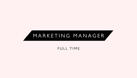 Marketing Manager | Full Time