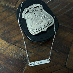 Personalized Badge Number Necklace (Bar Style)