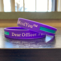 #WeNeedYou Wristbands - Violet/Teal for Suicide Awareness and Prevention Support - Packs of 2