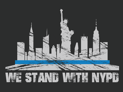 Stand with NYPD Decal