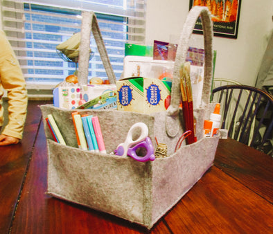 The Stylish Felt Diaper Caddy