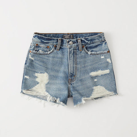 Abercrombie and Fitch denim mom shorts
