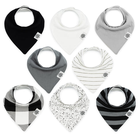 Parker Baby Co. Lunar Bandana Bib Set - 8 Pack