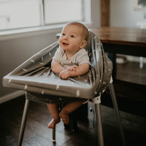 High chair cover for infants