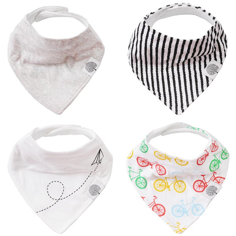 Bikes Bandana Bib Set for teething and drooling babies