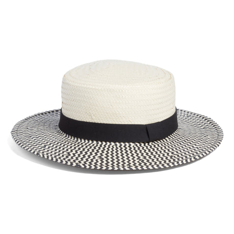 Something Navy. Two-tone Boater and Sun Hat