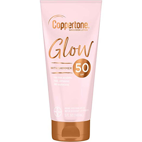 Coppertone Glow sunscreen with SPF 50