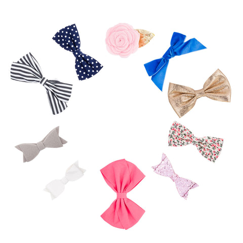 Essential Bow Clips with alligator clip for baby girls and toddlers