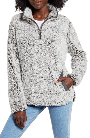 fuzzy sweatshirt for easy mom style