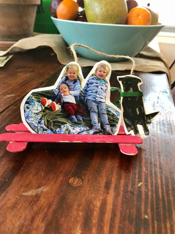 Sled Picture Ornaments