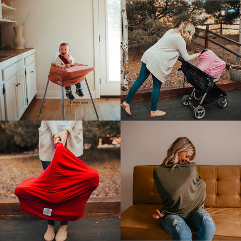 Multi-use Covers: nursing cover, car seat cover and more