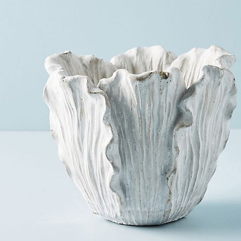Cement Tulip Pot from Anthro