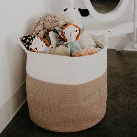 Rope Storage Basket for nursery storage, toy storage