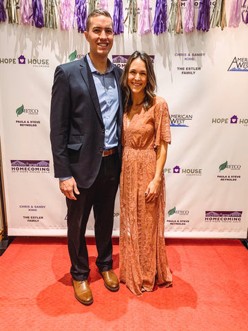 Parker Baby Co. founders, Sam and Kirsten at the Annual Hope House Charitable Gala