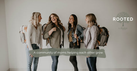 Rooted by Parker Baby Co: an online support group of moms sharing and discussing all things motherhood