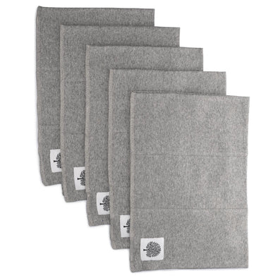 Organic Cotton Burp Cloths - 5 Pack, Gray - The Good Baby