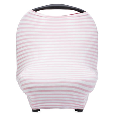 Multi-use Cover, White/Pink Stripes - The Good Baby