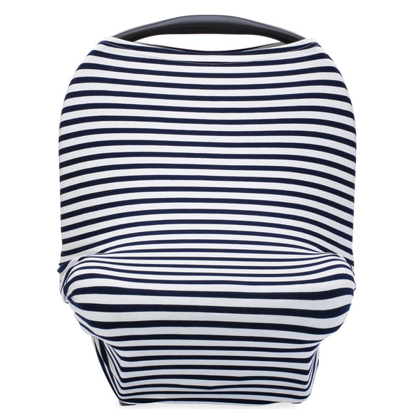 Multi-use Cover, White/Navy Stripes - The Good Baby