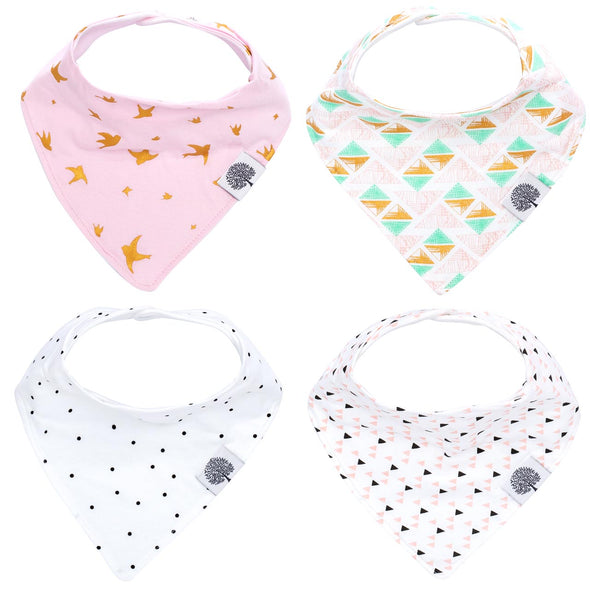 Blush Bandana Bib Set - The Good Baby