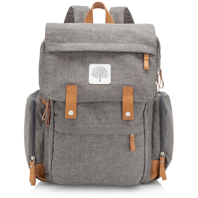 Birch Bag - Diaper Backpack in Gray - The Good Baby