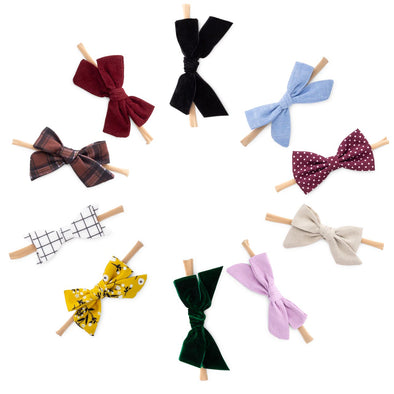 The Anne Bows and Headbands Set: set of 10 hair bows for baby.