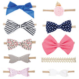 Assorted Bows and Headbands - 10 Pack