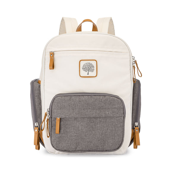 Birch Bag Mini Diaper Backpack in Cream.