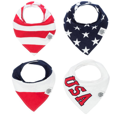 Freedom Bandana Bib Set - The Good Baby