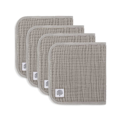 Gray Set - Muslin Burp Cloths (4 Pack)