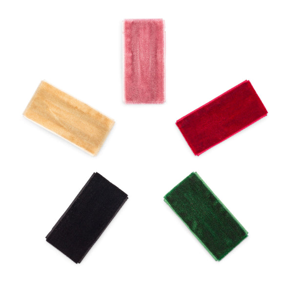 Holly Set - Velvet Hair Clips - The Good Baby