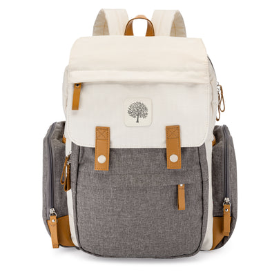 Birch Bag Diaper Backpack in Cream.
