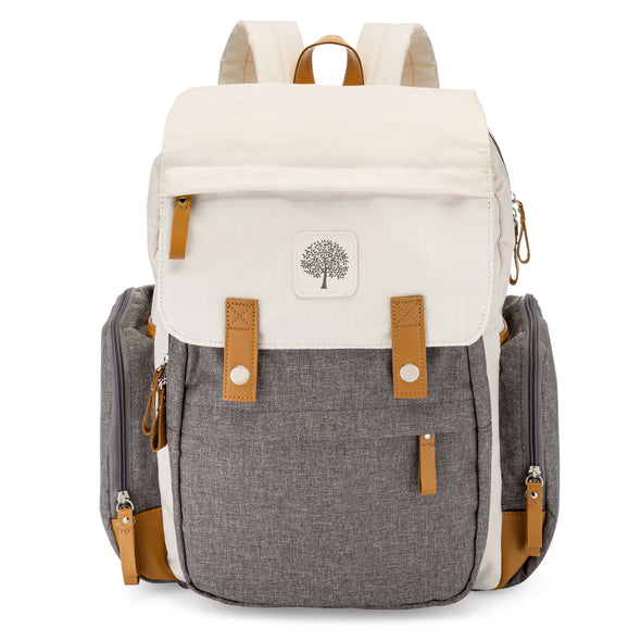 Birch Bag - Diaper Backpack in Cream - The Good Baby