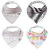 Bikes Bandana Bib Set: set of 4 bandana bibs for baby.
