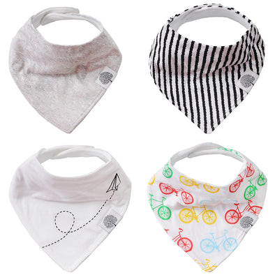 Bikes Bandana Bib Set - The Good Baby
