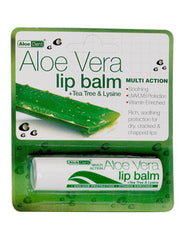 Aloe Dent Aloe Vera Lip Balm with Tea Tree & Lysine 4g