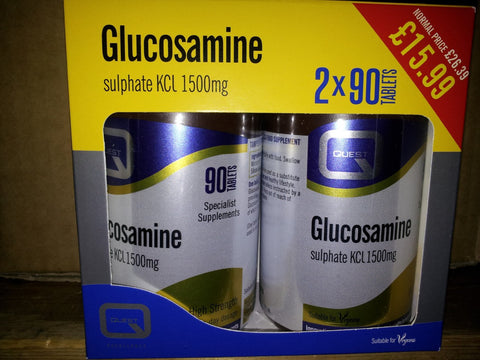 Quest Glucosamine Sulphate Kcl 1500mg - 2*90 Tab extra free