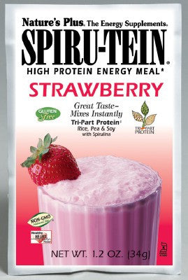 Nature's Plus Spiritu-tein Strawberry Sachets 8