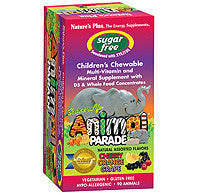 NATURE'S PLUS Animal Parade Sugar Free Children's Chewable - Assorted Flavor