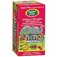 NATURE'S PLUS Animal Parade Sugar Free Children's Chewable - Cherry Flavor
