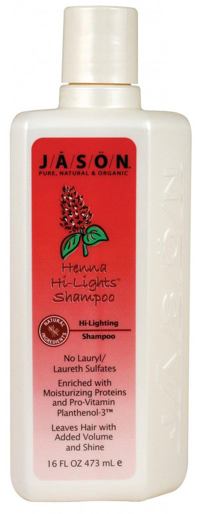 Jason Organic Henna Highlight Shampoo 473ml