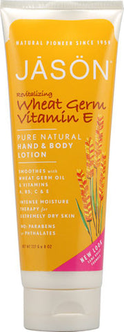 Jason Pure Natural Wheat Germ Vitamin E Hand and Body Lotion 8 fl oz