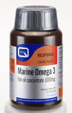 Quest Marine Omega 3 Fish Oil Concentrate 180 caps for the price of 90