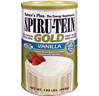 Nature's Plus Gold Spirutein Gold Vanilla 468g