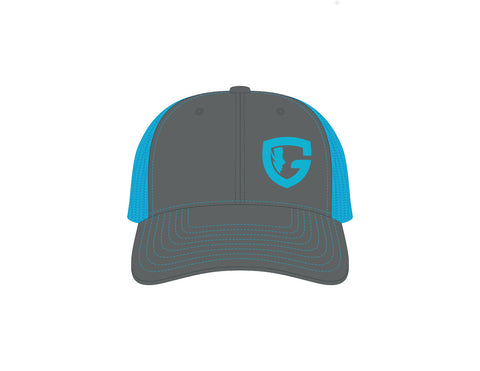Trucker Cap: Charcoal/Blue