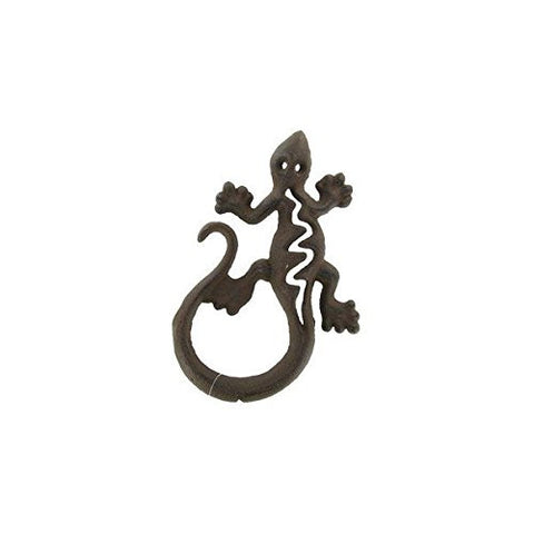 Rustic Cast Iron Gecko Wall Decoration