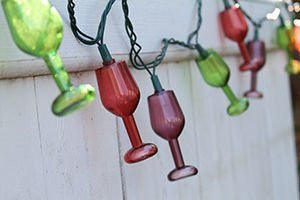 DEI Wine Glass String Lights - Colorful 8.5 feet of fun party decorative lights