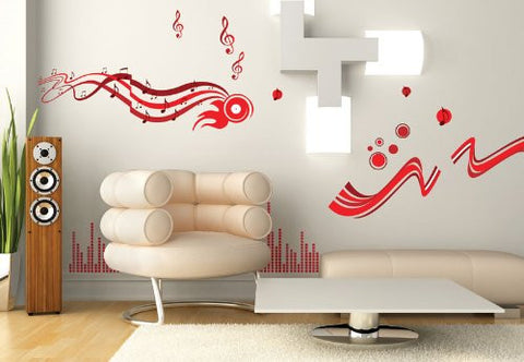 Music Red Wall Decals